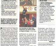Elite M : Article Dauphiné Libéré 23/10/14 Grenoble Volley